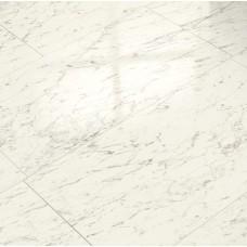 Глянцевый ламинат ELESGO Каррара Белая  V5 вид плитки